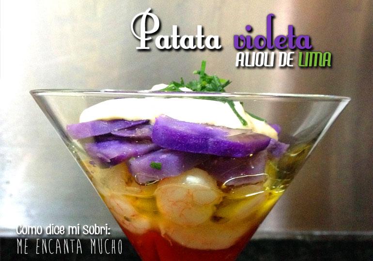 Ensaladilla de patata violeta