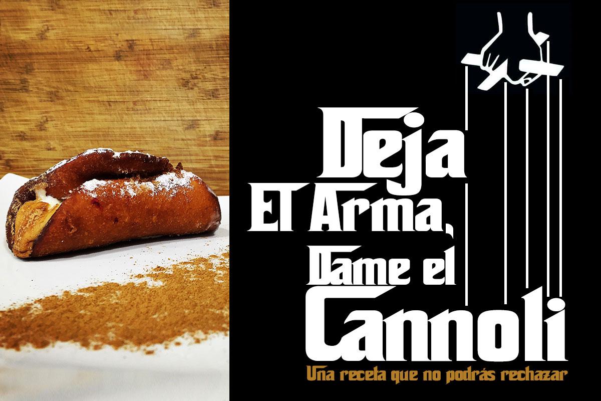 Cannoli es un dulce es típico de Sicilia