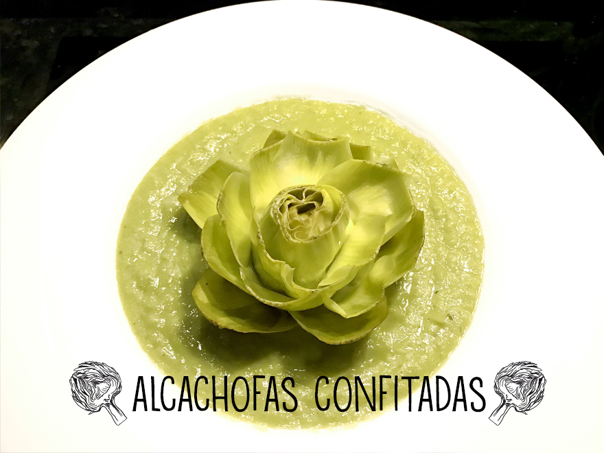 Alcachofas confitadas en AOVE koketo