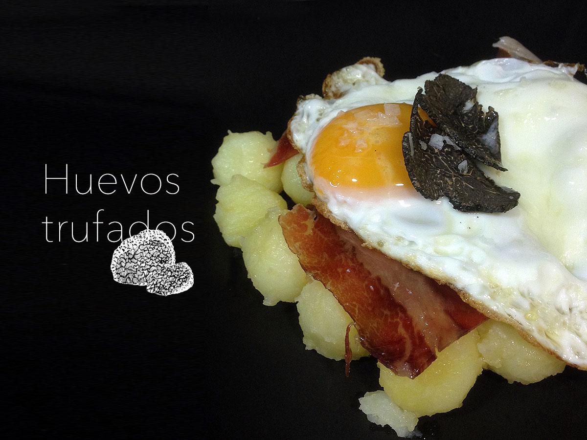 Huevos trufados. trufa. koketo