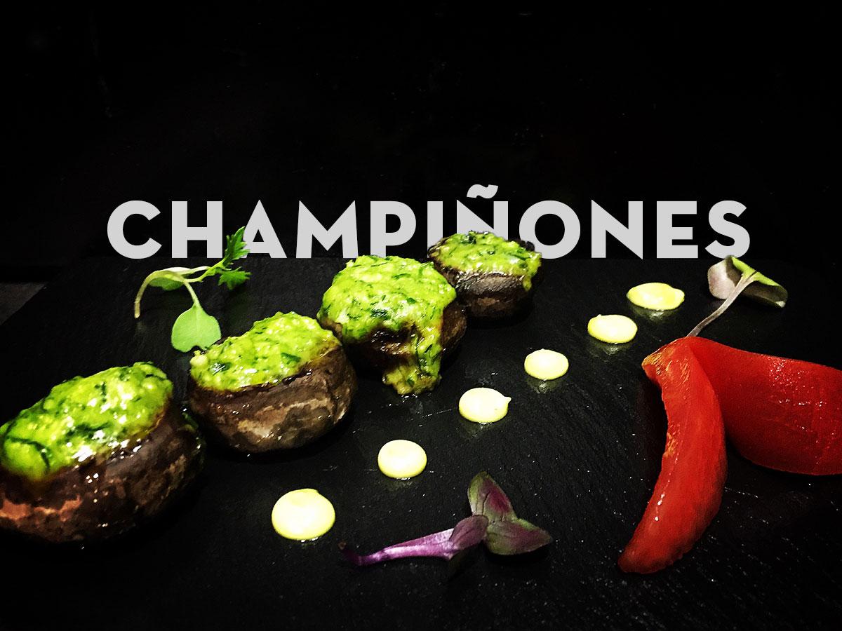 Champiñones. Chef Koketo