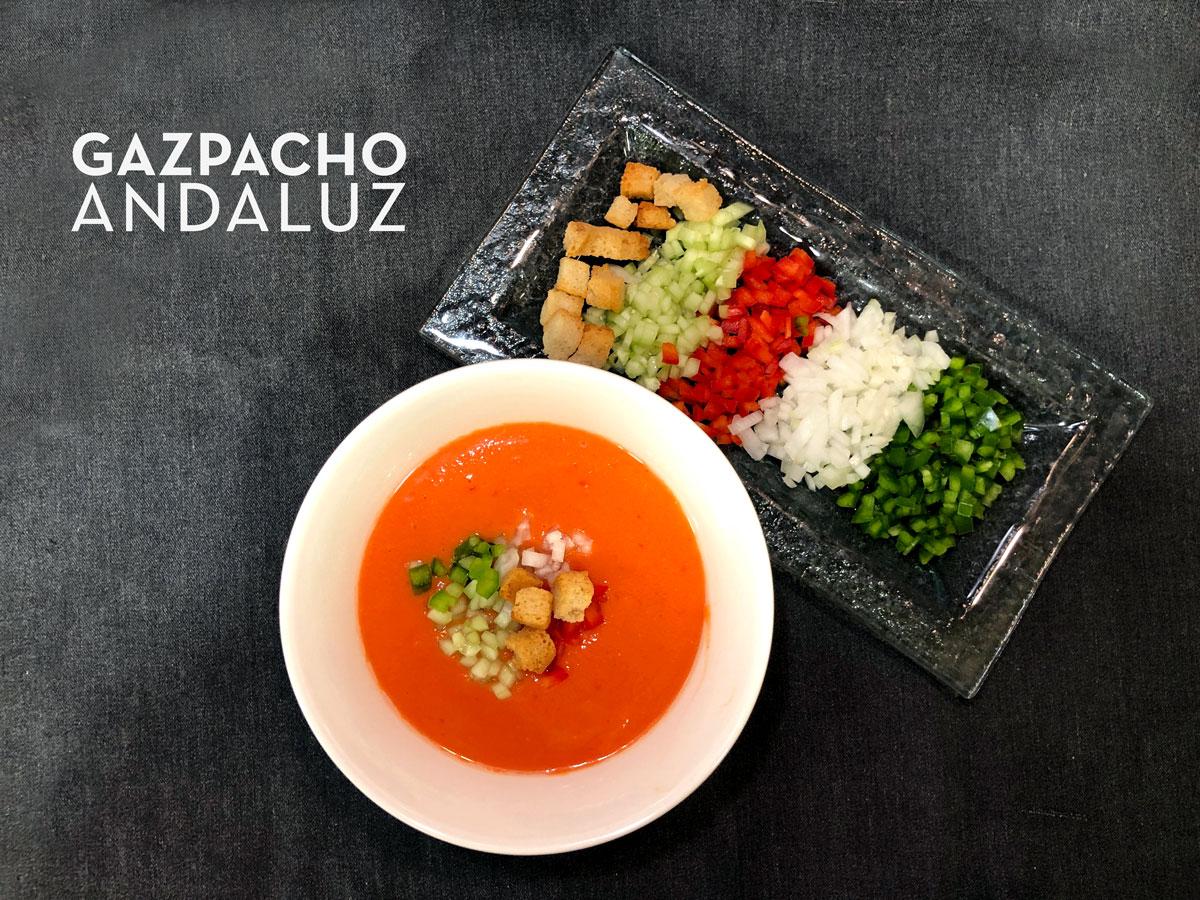 Gazpacho andaluz. Chef Koketo